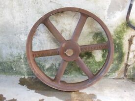 Large Cast Iron Pulley