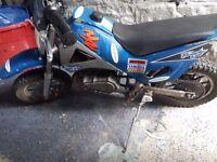 boys mini motorbike