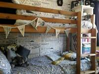 Solid Pine Shorty Bunk Beds