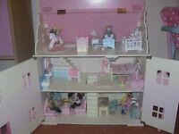 ELC dolls house with Le Toy Van furniture