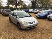 2002 Honda Civic 1.4 6 Months MOT Service History 3 Former Keepers Cheap Car