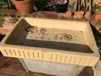 VICTORIAN STONE SINK - FOR PLANTING HERBS-ALPINES
