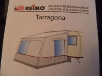 Reimo Tarragona Caravan Campervan Porch Awning Camping Tent - needs small repair