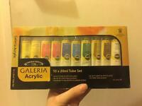 Winsor & Newton Galeria Acrylic 10 x 20ml tube paint set