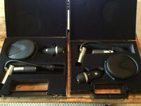 Coles 4038 Microphones (Pair - with adaptors).