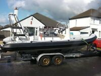 Diesel rib for sale Parker 6.3mtr