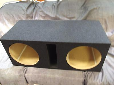 "Obcon 12"" Dual Subwoofer Enclosure Box Labyrinth Slot Vented 5/8"" PB Blue Tweed"