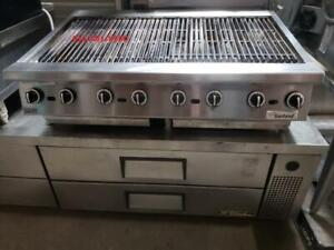 Garland 48  Charcoal Charbroiller , Grill , Grille , Grilloir  Gas Gaz Heavy Duty