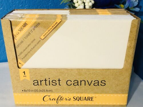 """3pk White Cotton Stretched Art Canvas Panel 8""""x10"""" Painting Supplies Acrylic Oil"""