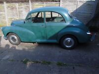 Green Morris Minor, 1968, 1098 engine, lovely relaible car