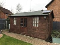 Fully Insulated Workshop / Office / Hobby Room / Studio with 8 power sockets