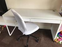 Ikea desktop and chair