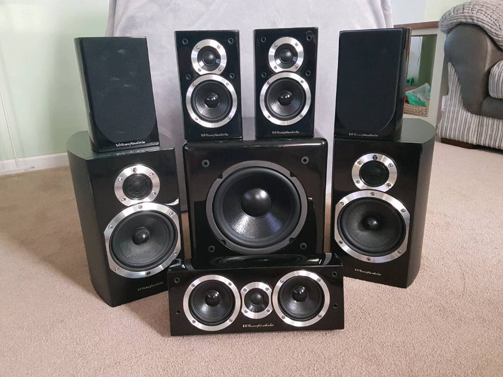 7 1 wharfedale complete surround sound system speakers in exeter devon gumtree. Black Bedroom Furniture Sets. Home Design Ideas
