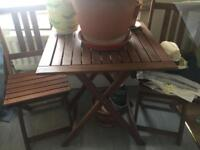 Table and 2 chairs - perfect for outside