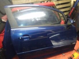 Vauxhall Corsa 2007 driver door Metallic Blue