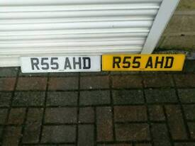 R55AHD number plate