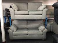 NEW / EX DISPLAY Grey John Lewis Grayson 3 + 2 Seater Sofas