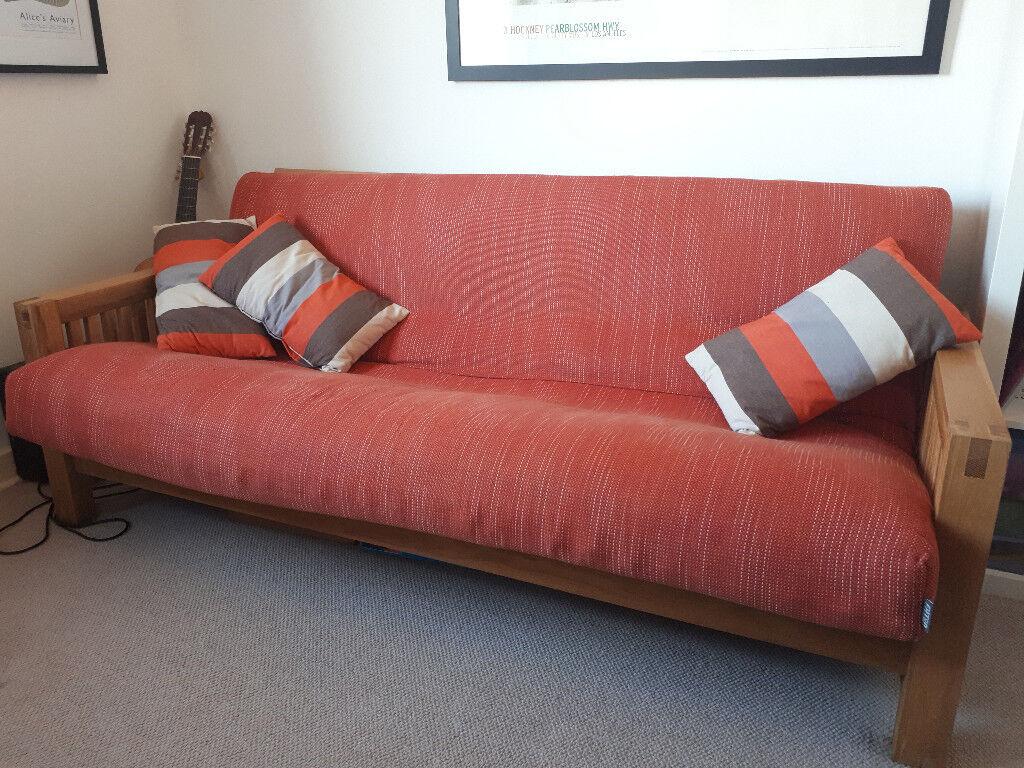 Excellent Orange Futon Company Solid Oak Oke Double Sofa