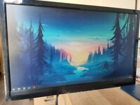 24in 1080p 60hz Monitor with Logitech PC speakers