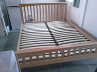 Kingsize Oak bed frame. Free delivery