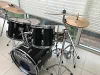 Ludwig Vintage Rocker 5 drum kit 1994 Black *JUST REDUCED* £675