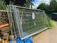 Heras fencing panels with clips and feet