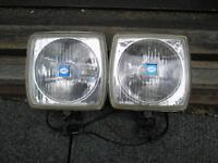 Pair of Vintage HELLA 6-inch spotlights, chrome....