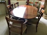 Reproduction Georgian dining table and chairs