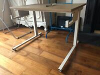 Wheelchair accessible, height adjustable desk