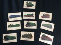 Collection of train postcards