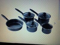 HOME 5 Piece Non-Stick Carbon Steel Pan Set