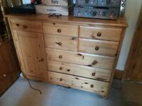Pine chest of draws for sale