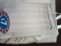 New skandi shower curtain with hooks