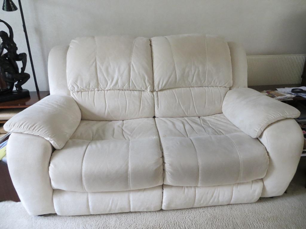 Cream suede arm chair buy sale and trade ads great prices for Suede couches for sale