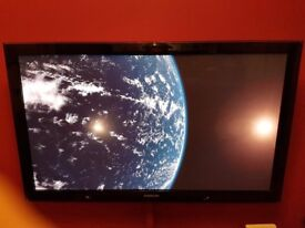 50 inch samsung 3d tv with 3 x 3d glasses