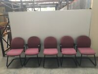 5 X CANTILEVER LEG OFFICE CHAIRS, MEETING, WAITING ROOM, RECEPTION, CONFERENCE
