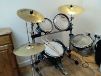 Trapp 5 piece drum kit with crash / ride cymbals hi-hat excellent condition