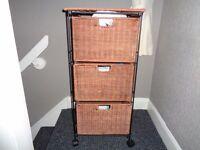 3 drawer wicker storage unit £10