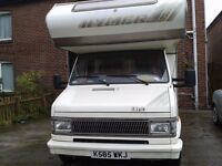 1993 Hymer camp 46 compact motor home,lhd,1.9 diesel,4 birth full mot,never welded.