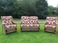 2+1+1 Lovely Cane Conservatory Chairs