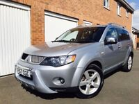 2007 57 Mitsubishi Outlander*4x4* 2.0 l Diesel*Long MOT*7 Seats*Full Leather* not CRV Shogun Rav4 X3