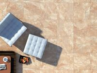 21.28 m² Marble effect cream tiles 33x33cm (delivery included)