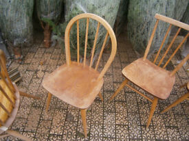 ERCOL HOOP BACK DINING CHAIR 4 BAR IN YEOVIL