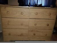Wide 3+3 chest of drawers