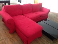 EKTORP 3 Seat Sofa & Chaise Lounge from IKEA (RRP £525)