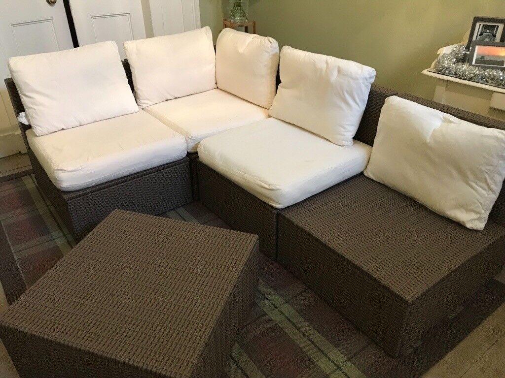 Garden furniture rattan