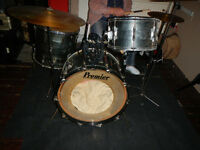 full 70's premier kit + cases + cymbals + hardware