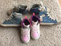 Girls boots/ Trainers bundle size Infant 7 from Next and Adidas
