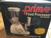 Brand new Prima Food Processor with Blender 500w