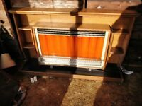 Vintage Retro Electric Fire and Surround